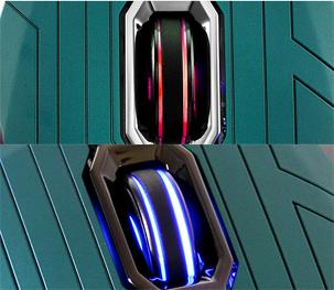 不同模式,滚轮会发出不同颜色