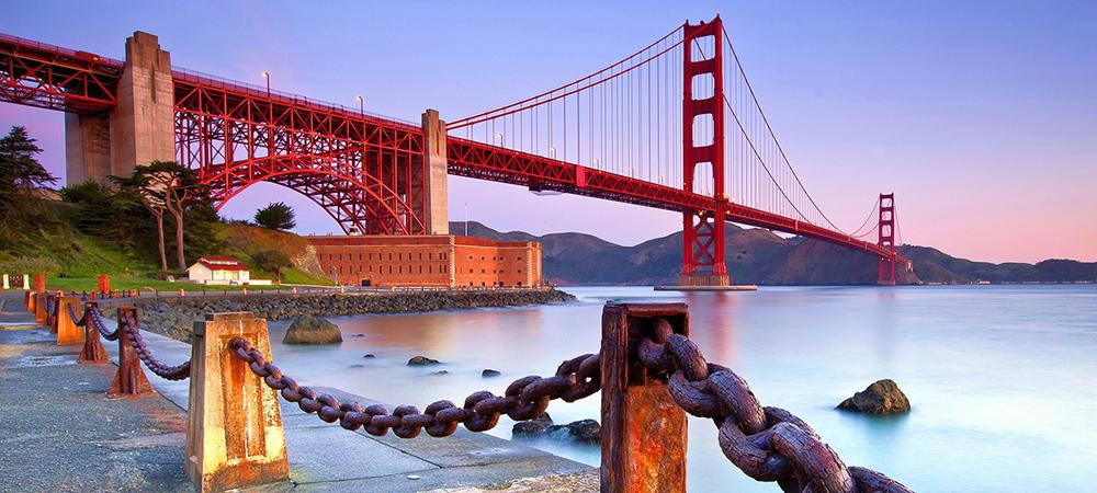 美丽的沿海城市旧金山
