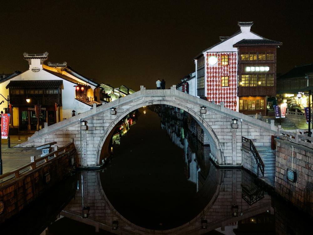 光影小桥流水