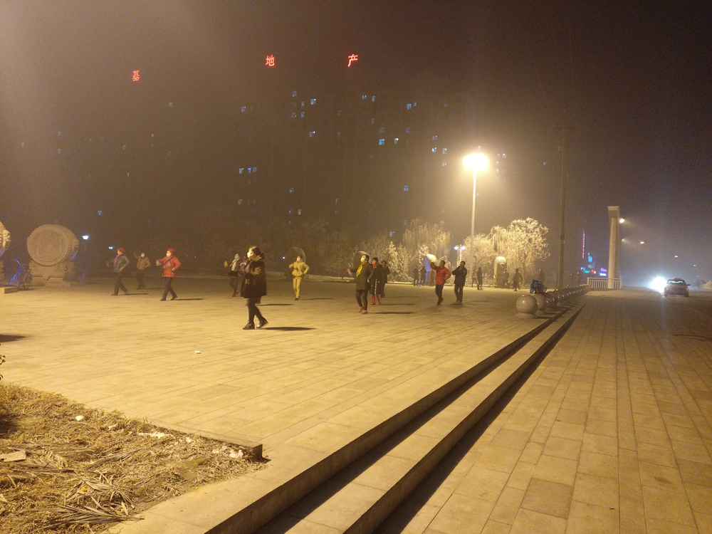 雾霾广场舞