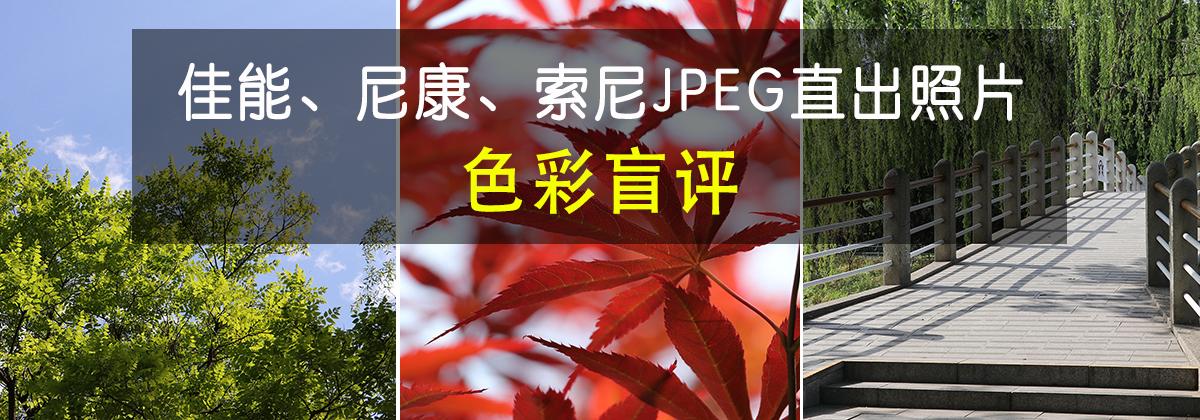 佳能、尼康、索尼JPEG直出照片色彩盲评