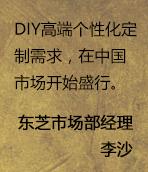DIY年鉴·专访东芝存储市场部经理李沙