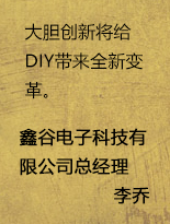鑫谷李乔:大胆创新将给DIY带来新变革