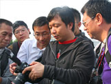 王宁老师为影友讲解无线引闪器使用方法