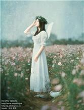 坠落花田的天使 清新唯美人像摄影技巧