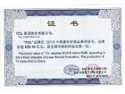 2013名牌证书