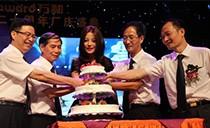 万和品牌代言人赵薇亮相周年庆