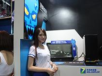 Intel展台美女与硬件