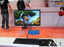 Intel展台的顶级游戏体验机
