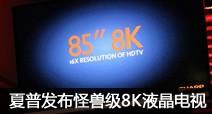 4K分辨率小儿科 夏普发布8K液晶电视