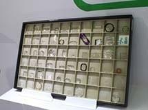 伯恩光学展示的晶片产品