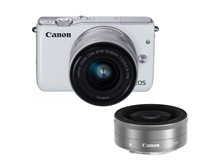 佳能(Canon)EOS M10微型单电双头套机 白色