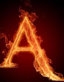 高清火焰字母桌面壁纸