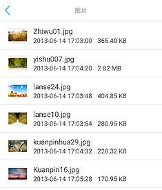 远程浏览图片列表