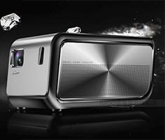 坚果J6投影仪家用高清1080P智能微型无线wifi无屏电视家庭投影机