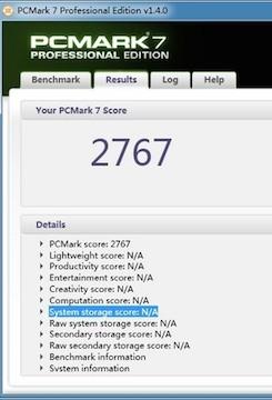 PC Mark测试成绩