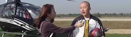 """北京航展""""飞起来"""" AEE呈现飞人翼装飞行"""