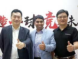 <span>Jason LS Chen/Anand Srivatsa/丁雪峰</span><br/> 七彩虹/Intel新品群访