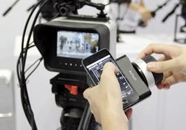 圆美道展示手机操控摄像机