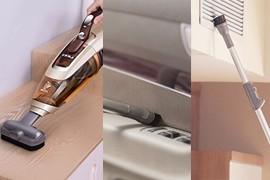 多个刷头附件,一键切换,<br/> 轻松满足台面、床垫和橱顶清洁