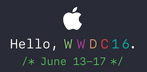 苹果WWDC 2016开发者大会