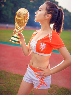我爱世界杯,更爱足球宝贝