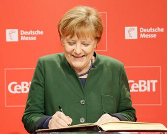 CeBIT巡展:德国总理默克尔现身