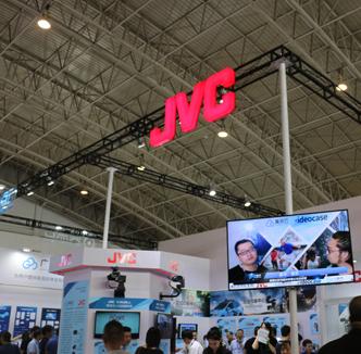 JVC展示直播摄像机切换台