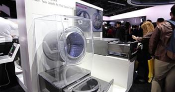 双层滚筒惊艳CES全场 LG展示新品洗衣机