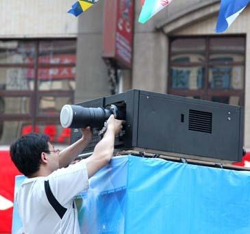 300吋见证巴西 解读NEC激光电影机安装