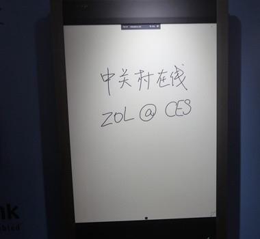 <b>现场</b>42英寸墨水屏支持10点触控