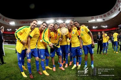 巴西队欢庆胜利