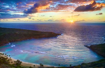 恐龙湾的日落