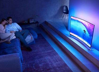 飞利浦(Philips4K超高清OLED曲面流光溢彩电视