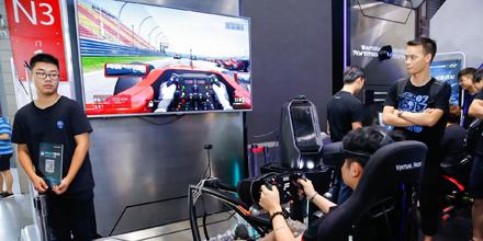 VR体验赛车游戏