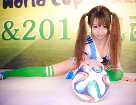 2014疯迷活动之巴西世界杯外拍足球宝贝作业