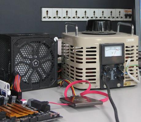 实测电压不稳对电脑伤害