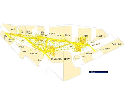利用wifi点统计人流总量,生成热点图