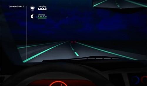不再担心摸黑开车 荷兰夜光公路试运行