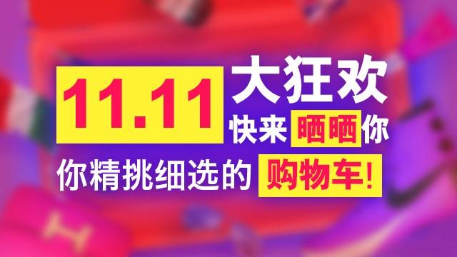 11.11大狂欢,快来晒晒你精挑细选的购物车!