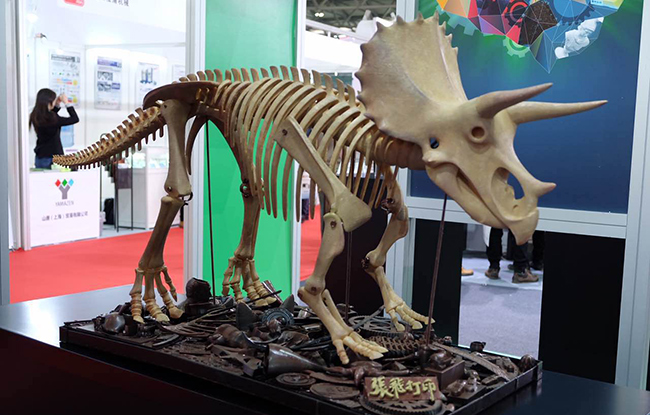 2017TCT3D打印展:3D打印恐龙骨架