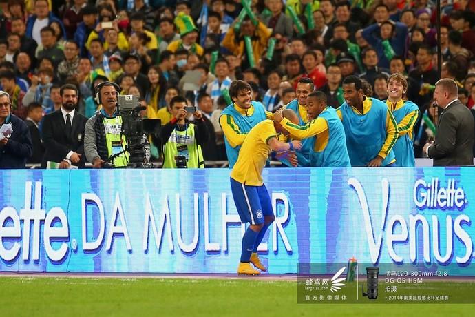 2014南美超级杯巴西队-庆祝胜利