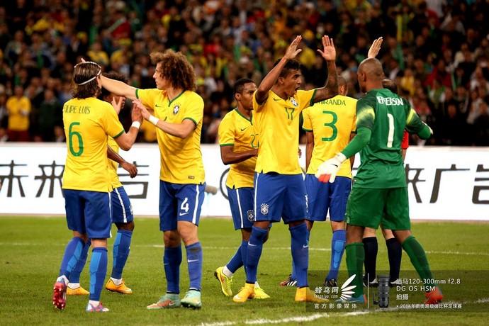 2014南美超级杯巴西队-进球庆祝