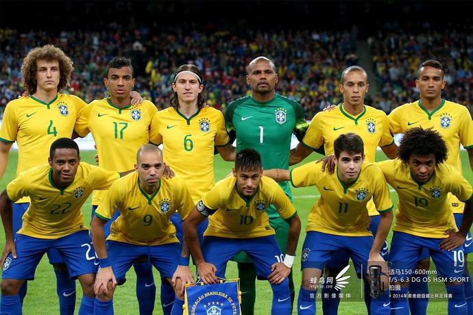 2014南美超级杯巴西队-开场合影