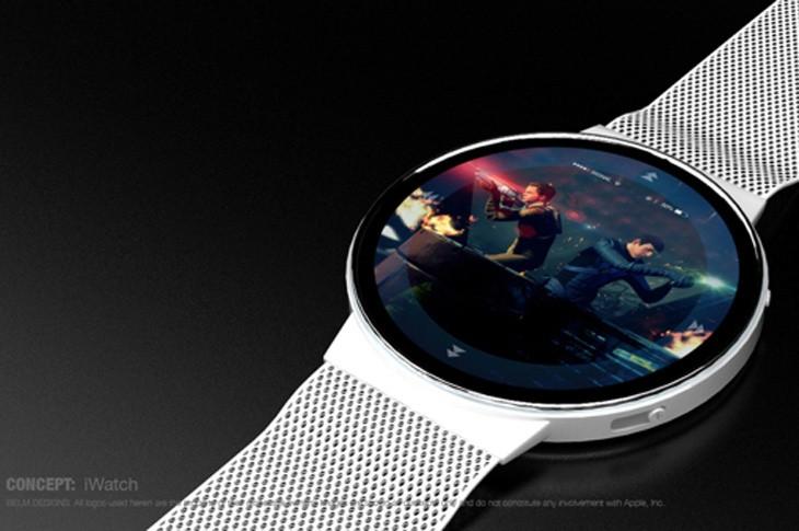 圆形表盘iwatch概念设计图