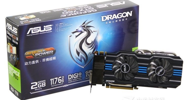 华硕 Dragon GTX760-DC2T-2GD5