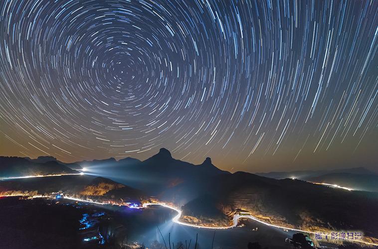月光车线星轨 拍摄地:七星台
