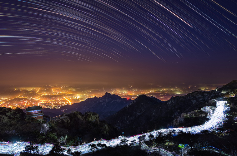 天上的街道 拍摄地:泰山