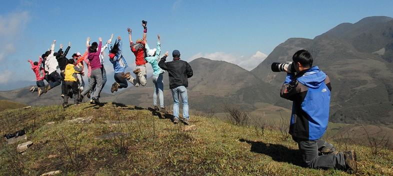 工作之余,也留下在山里最快乐的记忆。