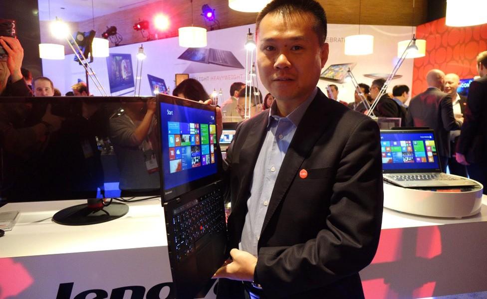 陈旭东先生CES现场展示新款ThinkPad X1 Carbon